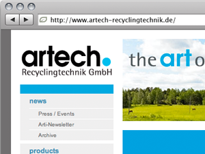 Artech Website Redesign