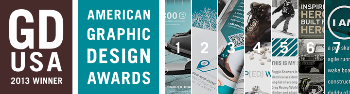 7-time Winner of the 2013 American Graphic Design Awards